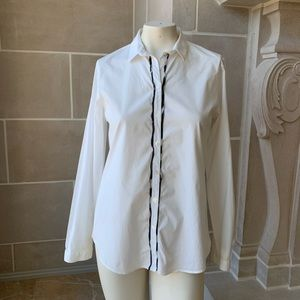 Burberry Check Trim Cotton Shirt